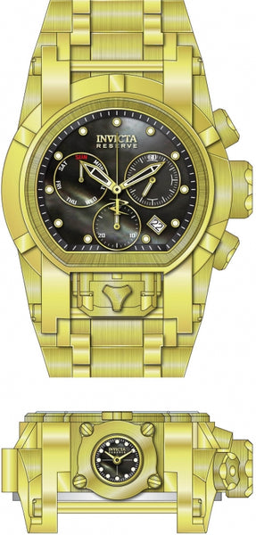 Invicta Men's 26706 Reserve Quartz Chronograph Black, Gold Dial Watch