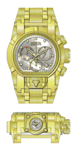 Invicta  Men's 26707 Reserve Quartz 3 Hand White, Gold Dial Watch
