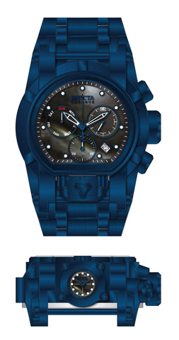 Invicta Men's 26708 Reserve Quartz 3 Hand Black, Blue Dial Watch