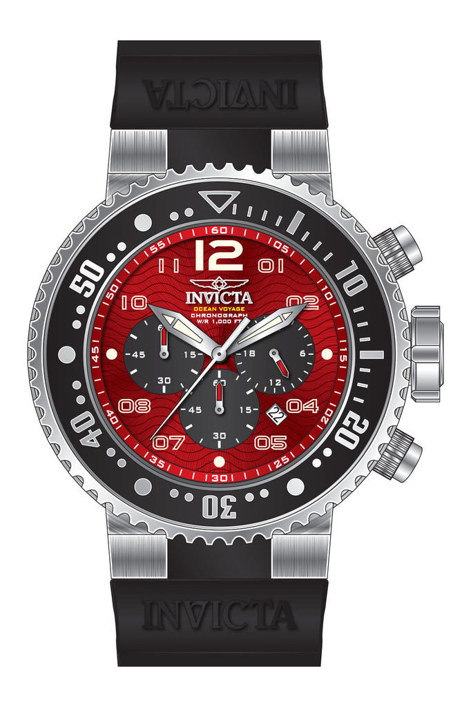 Invicta Men's 26734 Pro Diver Quartz Multifunction Black, Red Dial Watch