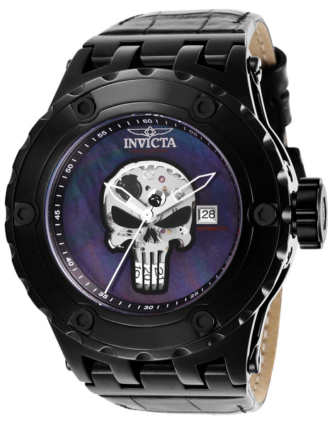 Invicta Men's 26757 Marvel Automatic Multifunction Black Dial Watch