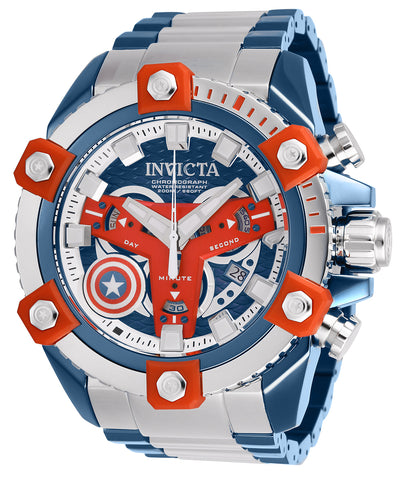 Invicta Men's 26763 Marvel Quartz Chronograph Blue Dial Watch
