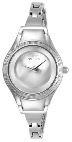 Invicta Women's 26765 Angel Quartz 2 Hand Silver Dial Watch