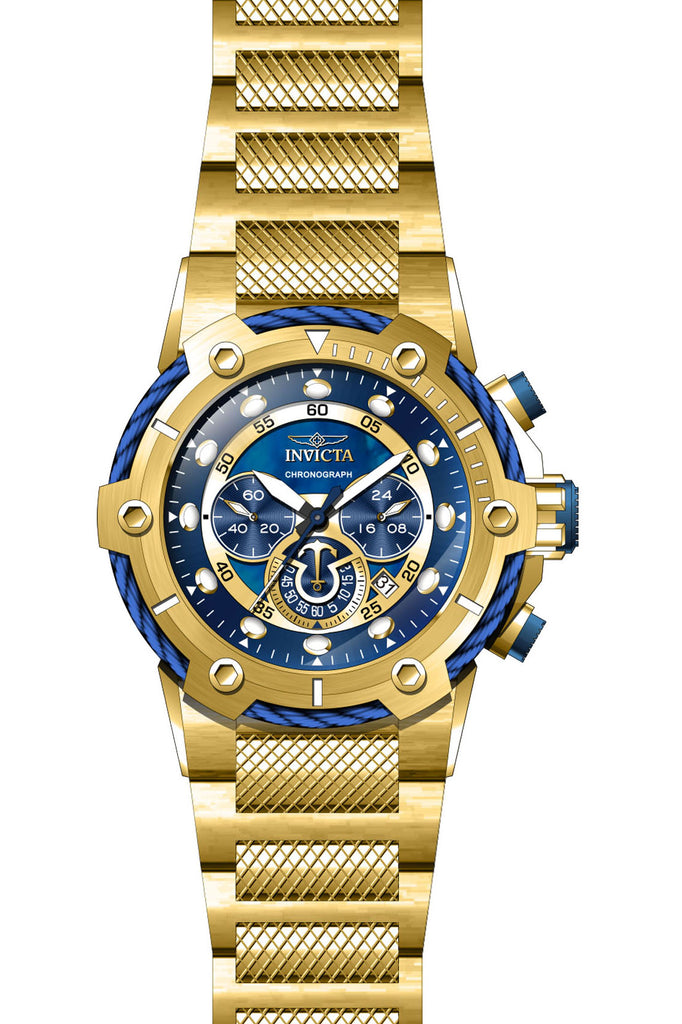 Invicta Men's 26812 Bolt Quartz Chronograph Blue Dial Watch