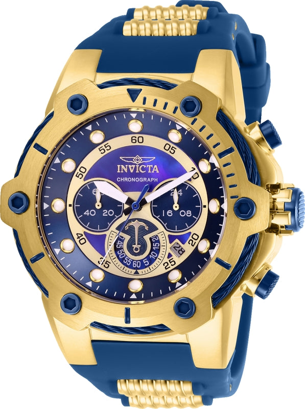 Invicta Men's 26816 Bolt Quartz Chronograph Blue Dial Watch