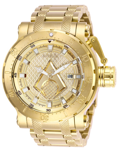 Invicta Men's 26832 DC Comics Automatic 3 Hand Gold Dial Watch
