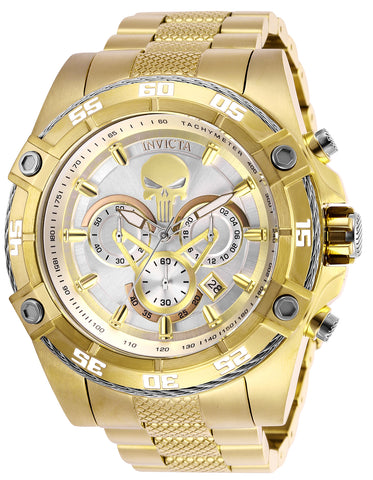 Invicta Men's 26864 Marvel Quartz Multifunction Silver Dial Watch