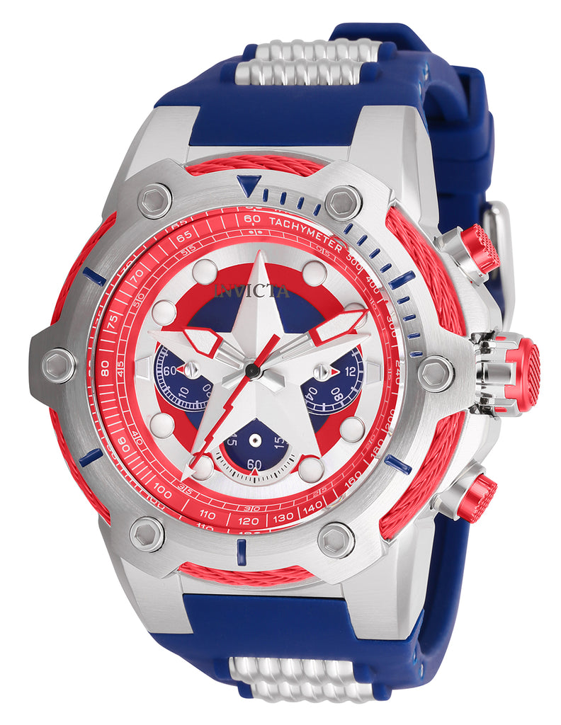 Invicta Men's 26894 Marvel Quartz Chronograph Blue Dial Watch