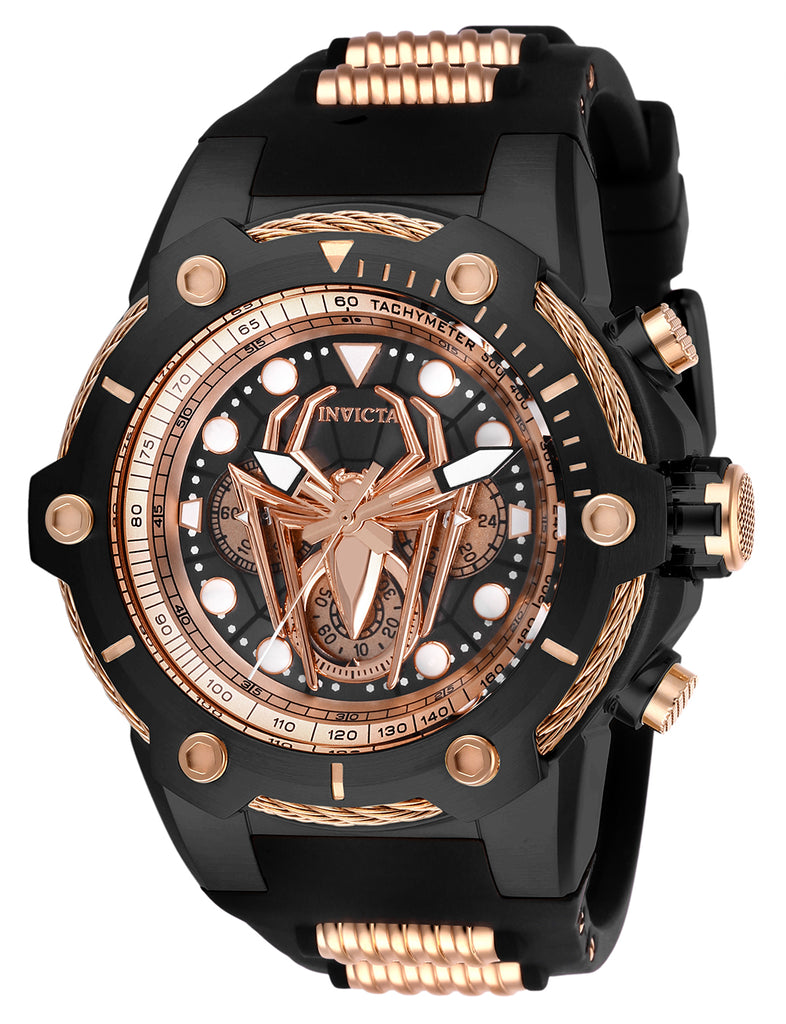 Invicta Men's 26918 Marvel Quartz Chronograph Black, Rose Gold Dial Watch