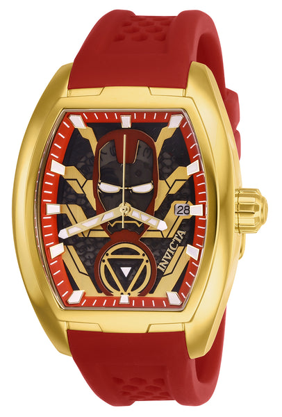 Invicta Men's 26929 Marvel Automatic 3 Hand Black, Red, Gold Dial Watch