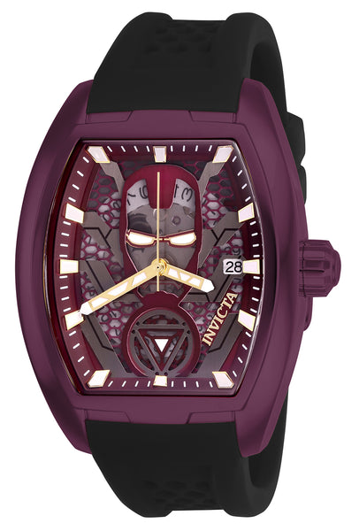 Invicta Men's 26931 Marvel Automatic 3 Hand Burgundy, Gunmetal Dial Watch