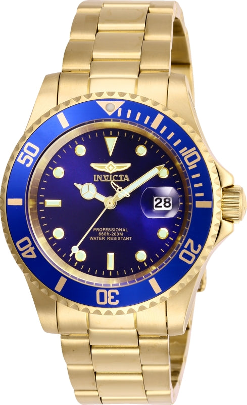 Invicta Men's 26974 Pro Diver Quartz 3 Hand Blue Dial Watch