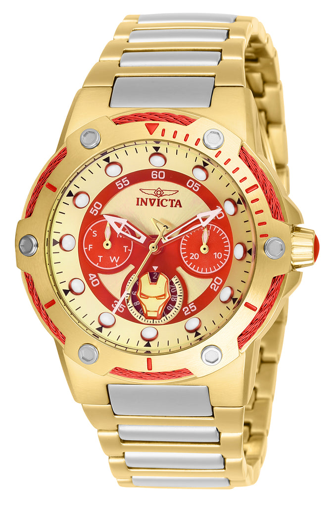 Invicta Women's 26985 Marvel Quartz Chronograph Gold Dial Watch