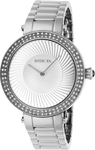 Invicta Women's 27002 Specialty Quartz 2 Hand Silver Dial Watch