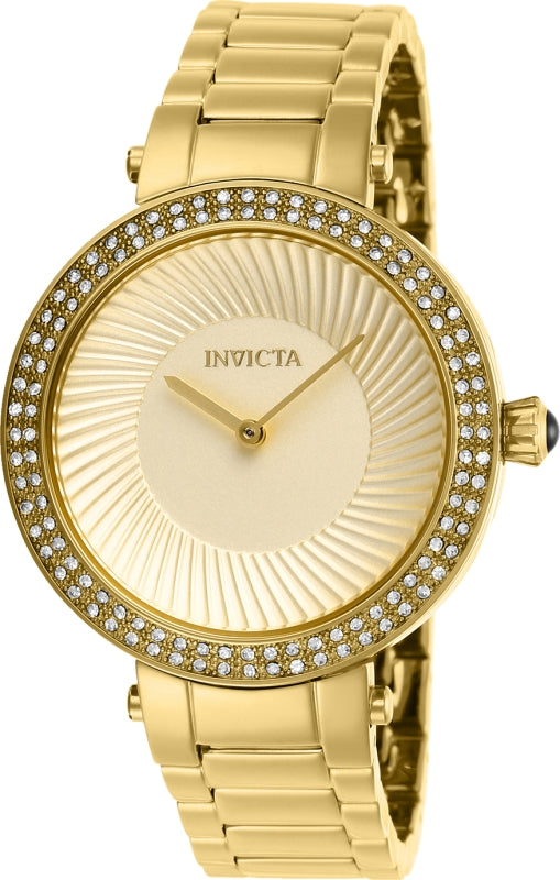 Invicta Women's 27005 Specialty Quartz 2 Hand Gold Dial Watch