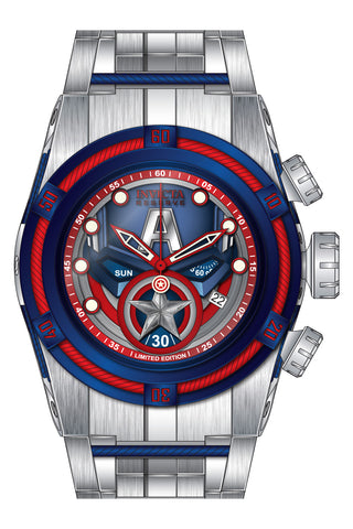Invicta Men's 27045 Marvel Quartz Chronograph Blue, Red Dial Watch