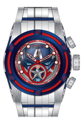 Invicta Men's 27046 Marvel Quartz 3 Hand Blue, Red Dial Watch