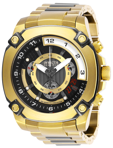 Invicta Men's 27052 Reserve Quartz 3 Hand Black Dial Watch