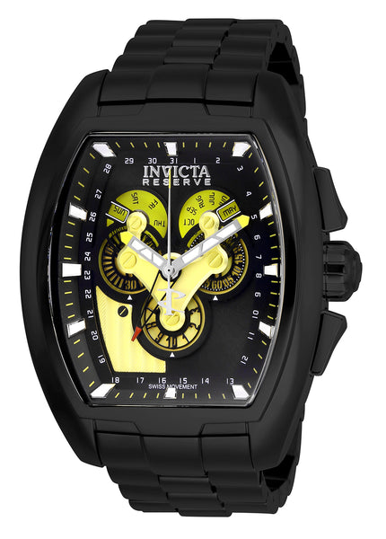Invicta Men's 27055 Reserve Quartz 3 Hand Black Dial Watch