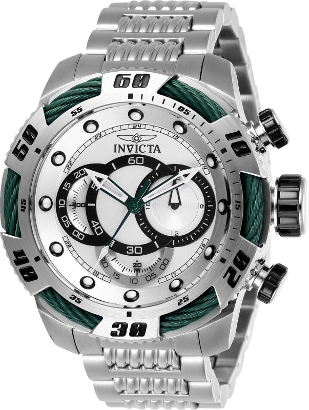 Invicta Men's 27059 Speedway Quartz Chronograph Silver Dial Watch