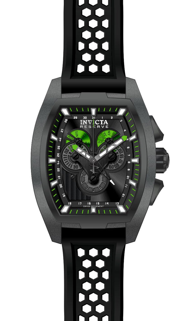 Invicta Men's 27090 Reserve Quartz Multifunction Black Dial Watch