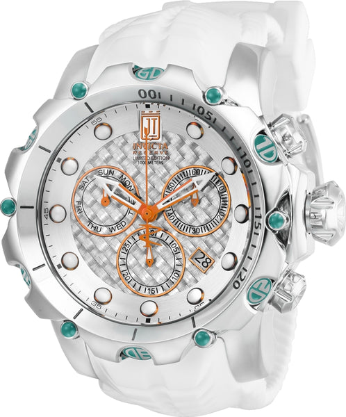 Invicta Men's 27104 Jason Taylor Quartz Chronograph Silver Dial Watch