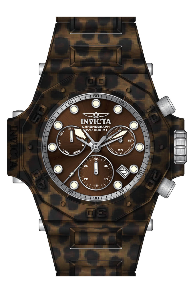 Invicta Men's 27111 Akula Quartz Chronograph Brown Dial Watch