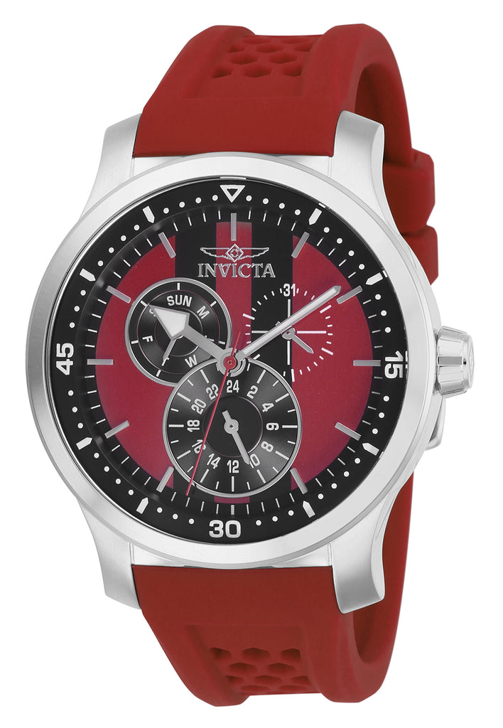 Invicta Men's 27120 S1 Rally Quartz Multifunction Red, Black Dial Watch