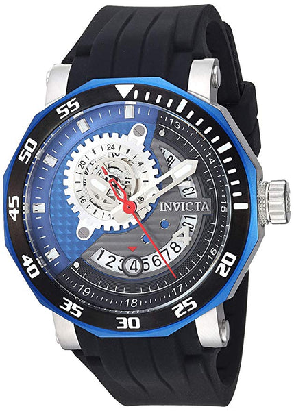Invicta Men's 27127 Excursion Automatic 3 Hand Grey, Black, Blue Dial  Watch