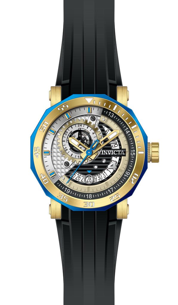 Invicta Men's 27128 Excursion Automatic 3 Hand Black, Champagne, Silver Dial  Watch