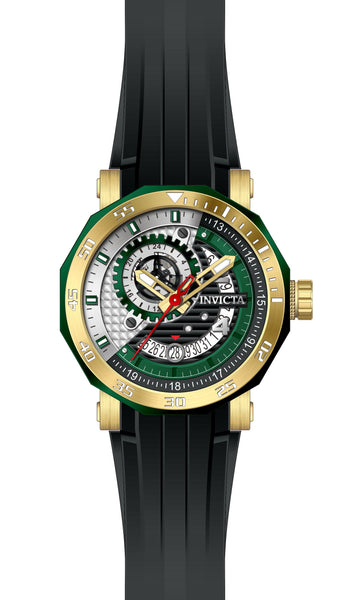 Invicta Men's 27129 Excursion Automatic 3 Hand Black, Green, Silver Dial  Watch