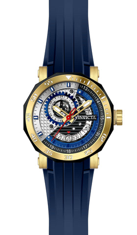 Invicta Men's 27130 Excursion Automatic 3 Hand Black, Blue, Silver Dial  Watch