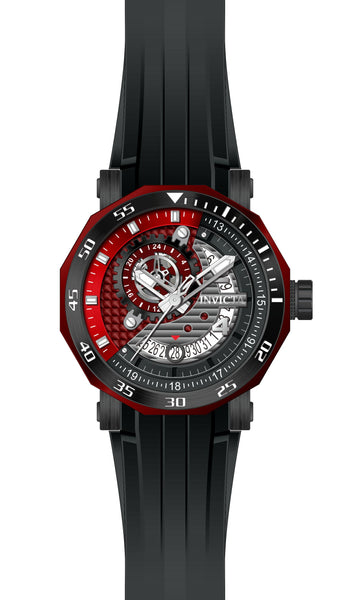 Invicta Men's 27131 Excursion Automatic 3 Hand Grey, Black, Red Dial  Watch