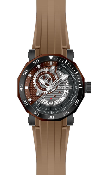 Invicta Men's 27132 Excursion Automatic 3 Hand Grey, Black, Brown Dial  Watch