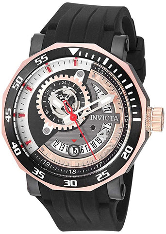 Invicta Men's 27133 Excursion Automatic 3 Hand Grey, Rose Gold, Black Dial Watch