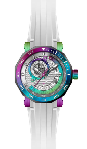 Invicta Men's 27134 Excursion Automatic 3 Hand Silver, Rainbow Dial  Watch
