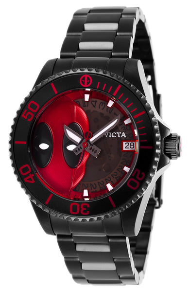 Invicta Women's 27154 Marvel Automatic 3 Hand Black, Red Dial Watch