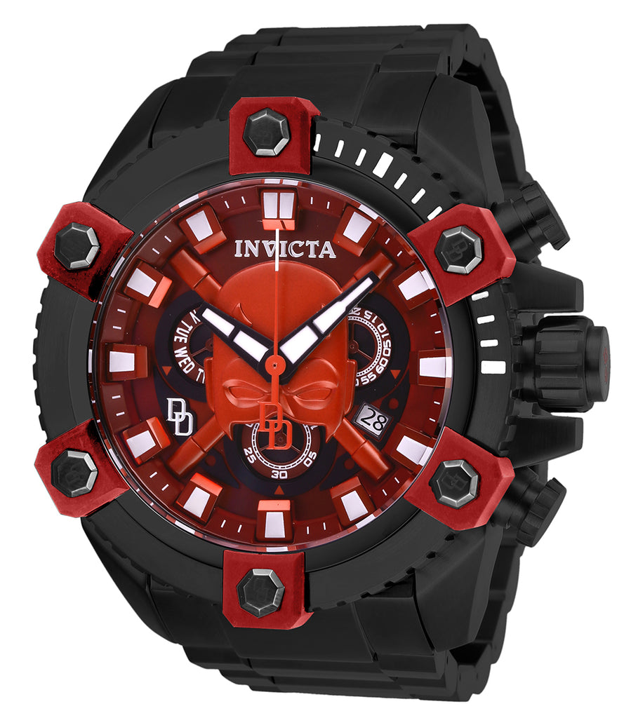 Invicta Men's 27167 Marvel Quartz 3 Hand Red, Burgundy Dial Watch