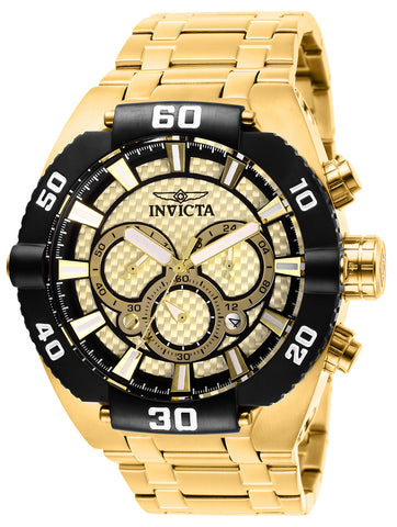 Invicta Men's 27256 Coalition Forces Quartz 3 Hand Gold Dial Watch