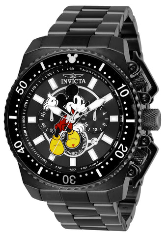 Invicta Men's 27286 Disney  Quartz Chronograph Black Dial Watch