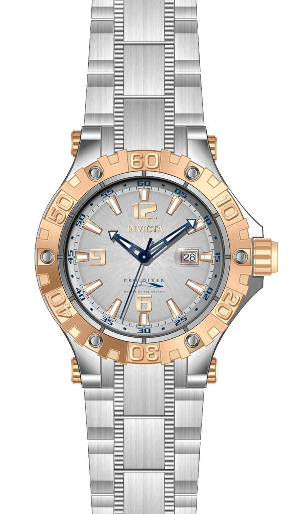 Invicta Men's 27308 Pro Diver Automatic 3 Hand Silver Dial Watch