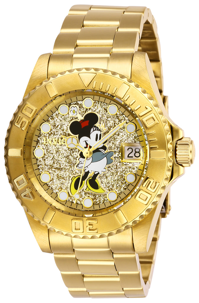Invicta Women's 27386 Disney  Quartz 3 Hand Gold Dial Watch