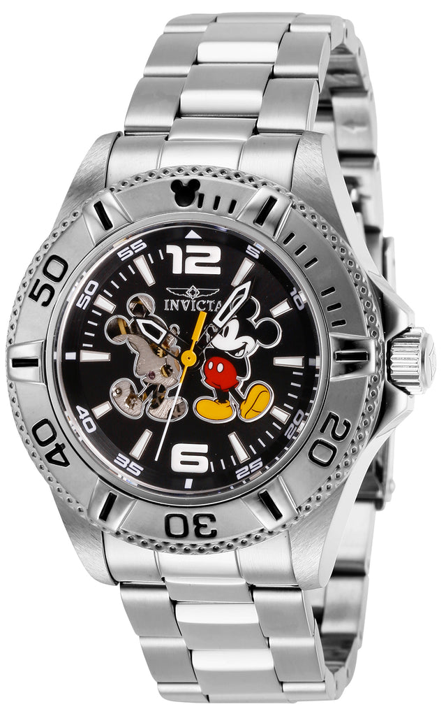 Invicta Men's 27407 Disney  Automatic 3 Hand Black Dial Watch