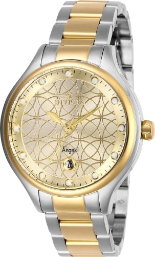 Invicta Women's 27435 Angel Quartz 3 Hand Gold Dial Watch