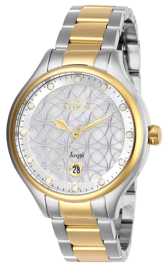 Invicta Women's 27436 Angel Quartz 3 Hand White Dial Watch