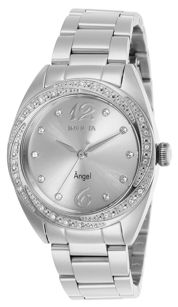 Invicta Women's 27456 Angel Quartz 3 Hand Silver Dial Watch