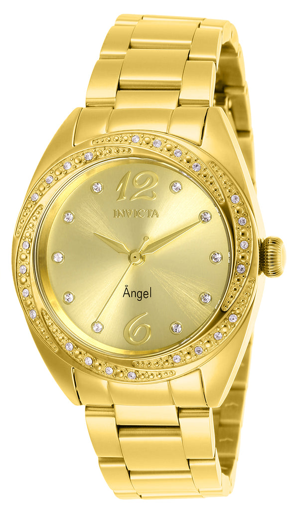 Invicta Women's 27457 Angel Quartz 3 Hand Gold Dial Watch