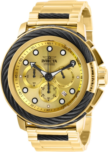 Invicta Men's 27494 Bolt Quartz Chronograph Gold Dial Watch