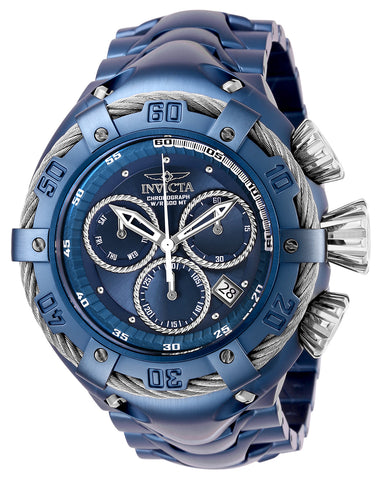 Invicta Men's 27517 Bolt Quartz Chronograph Blue, Silver Dial Watch