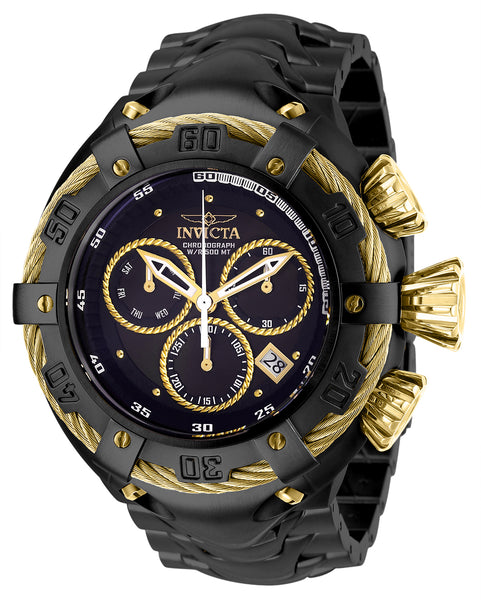 Invicta Men's 27518 Bolt Quartz Chronograph Black, Gold Dial Watch